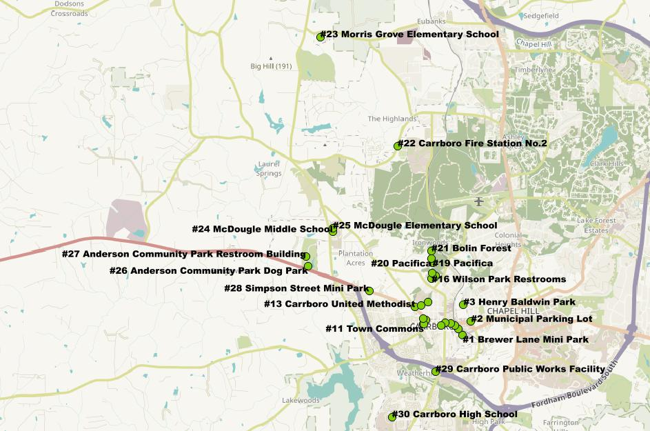 Carrboro Urban Forestry Map